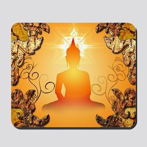 Buddha in the sunset Mousepad