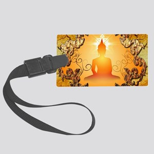 Buddha in the sunset Luggage Tag