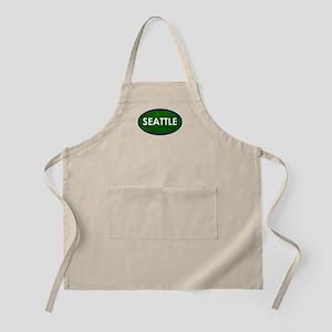 Seattle White Green Stone Apron