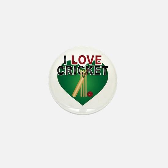 Love Cricket Mini Button