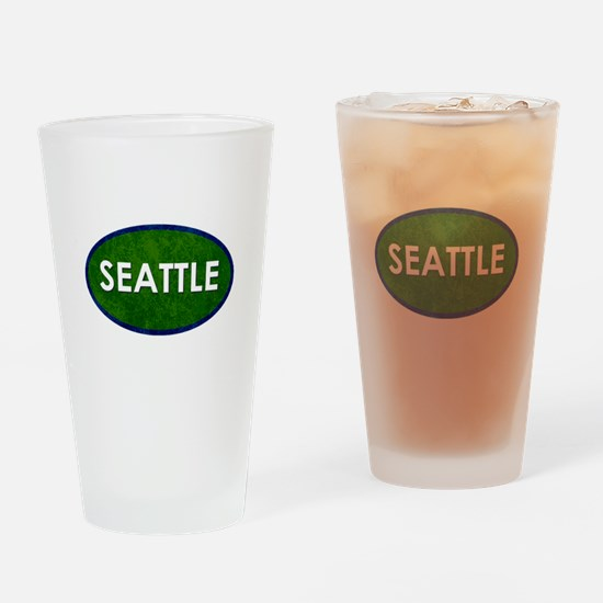 Seattle White Green Stone Drinking Glass