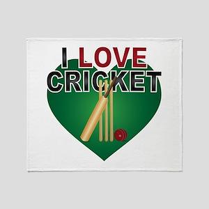 Love Cricket Throw Blanket