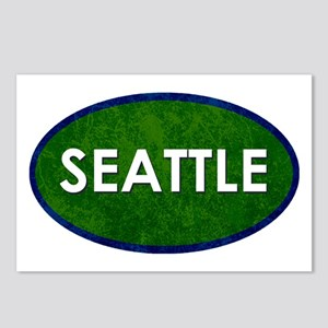 Seattle White Green Stone Postcards (Package of 8)