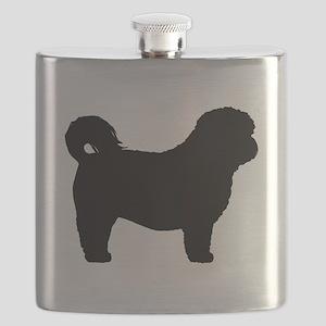 Shih Tzu Silhouette Flask