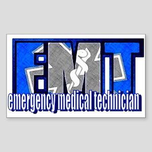 EMT Logo Rectangle Sticker