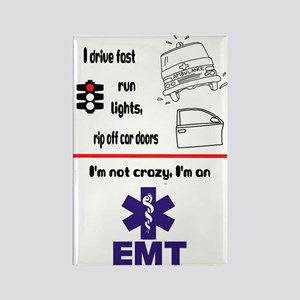 Not Crazy EMT Rectangle Magnet