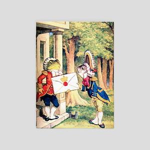 A Royal Invitation in Wonderland 5'x7'Area Rug