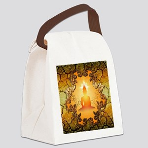 Buddha in the sunset Canvas Lunch Bag