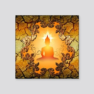Buddha in the sunset Sticker