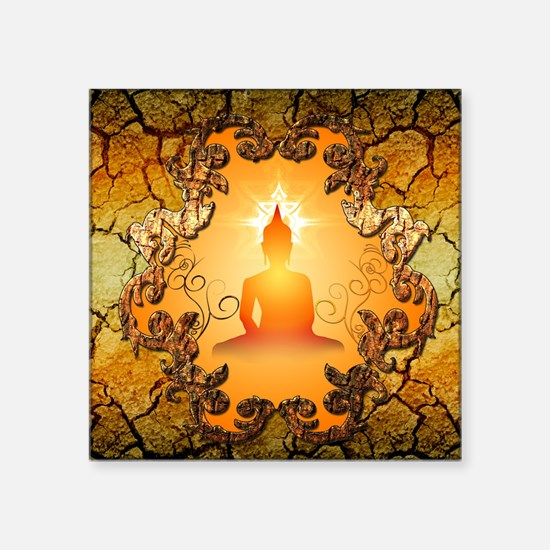 Buddha in the sunset Sticker