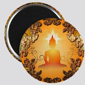 Buddha in the sunset Magnets
