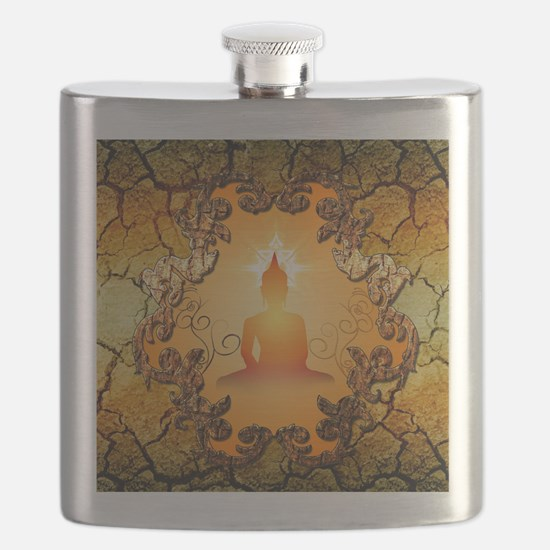 Buddha in the sunset Flask
