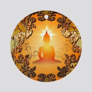 Buddha in the sunset Ornament (Round)