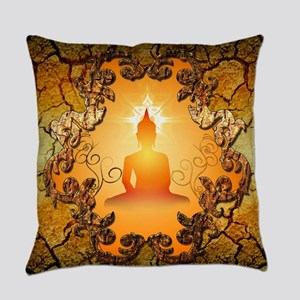Buddha in the sunset Everyday Pillow