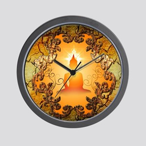 Buddha in the sunset Wall Clock