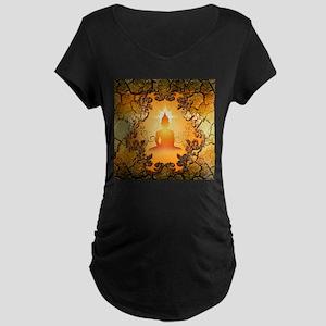 Buddha in the sunset Maternity T-Shirt