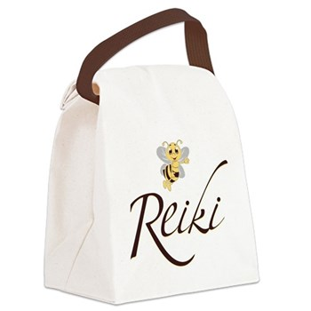 Bee Reiki Canvas Lunch Bag