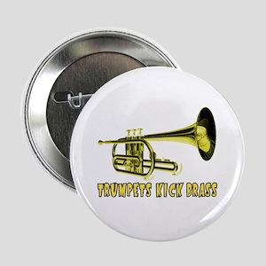 Trumpets Kick Brass Button