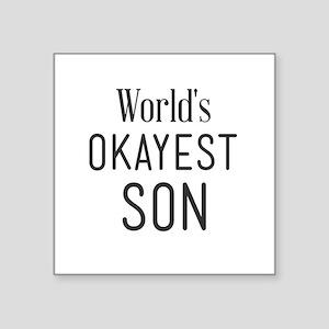 World's okayest son Sticker