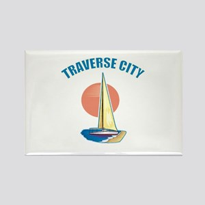 Traverse City Rectangle Magnet