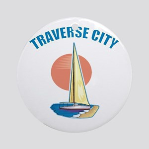 Traverse City Ornament (Round)