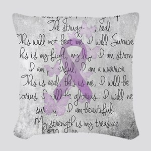 The Fight Woven Throw Pillow