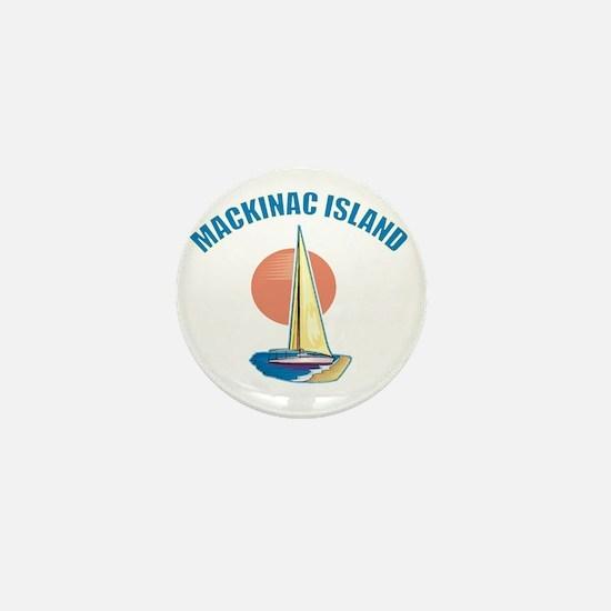 Mackinac Island Mini Button