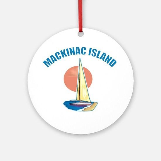 Mackinac Island Ornament (Round)