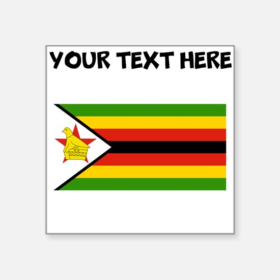 Custom Zimbabwe Flag Sticker
