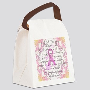 Pink Ribbon, the Fight Canvas Lunch Bag