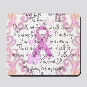 Pink Ribbon, the Fight Mousepad