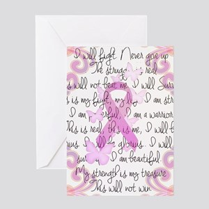 Pink Ribbon, the Fight Greeting Card