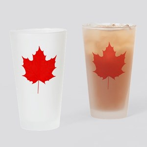 Red Maple Leaf Drinking Glass