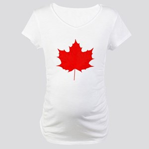 Red Maple Leaf Maternity T-Shirt