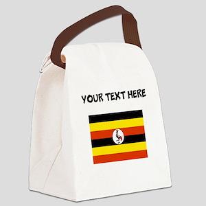 Custom Uganda Flag Canvas Lunch Bag