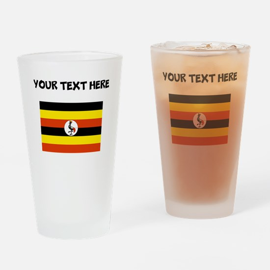 Custom Uganda Flag Drinking Glass