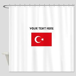 Custom Turkey Flag Shower Curtain