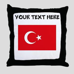 Custom Turkey Flag Throw Pillow