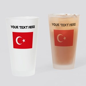 Custom Turkey Flag Drinking Glass
