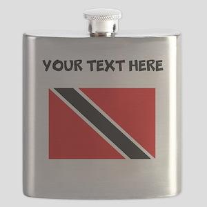 Custom Trinidad and Tobago Flag Flask
