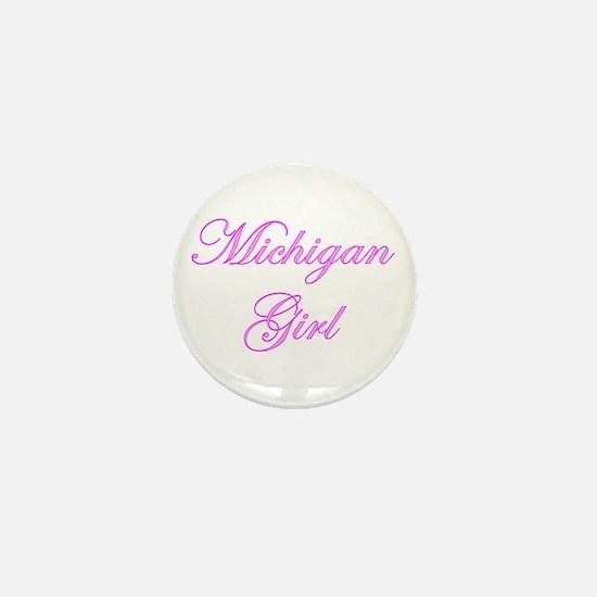 Michigan Girl Mini Button