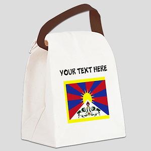 Custom Tibet Flag Canvas Lunch Bag