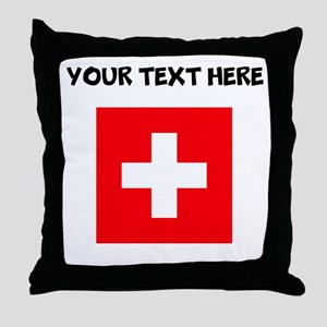 Custom Switzerland Flag Throw Pillow