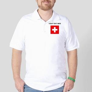 Custom Switzerland Flag Golf Shirt