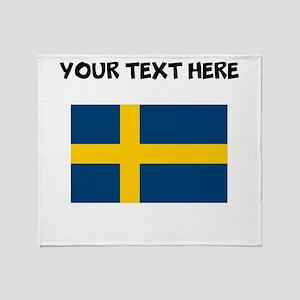 Custom Sweden Flag Throw Blanket