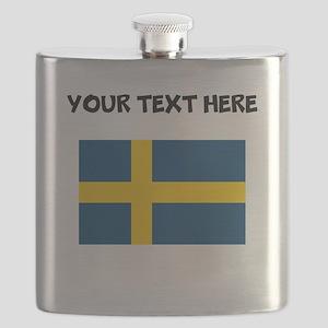 Custom Sweden Flag Flask