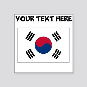 Custom South Korea Flag Sticker