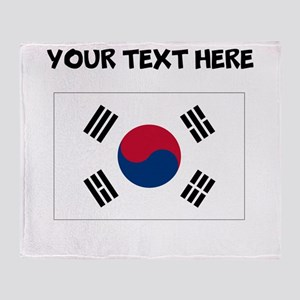 Custom South Korea Flag Throw Blanket