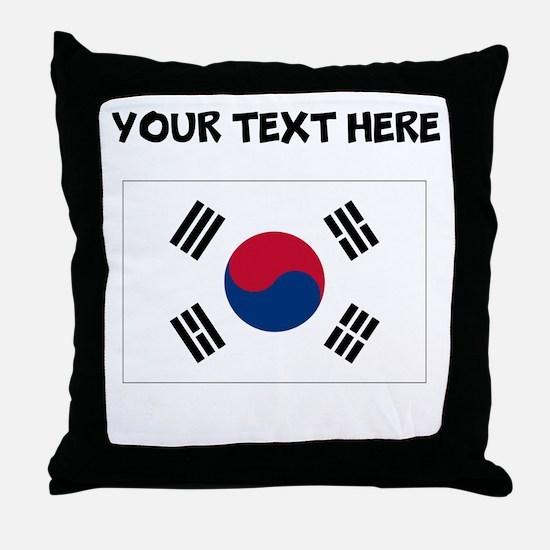 Custom South Korea Flag Throw Pillow