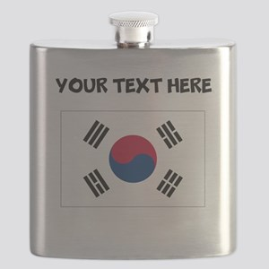 Custom South Korea Flag Flask